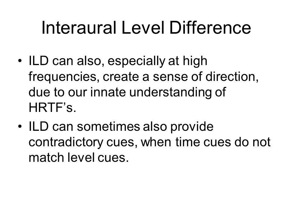Interaural Level Difference