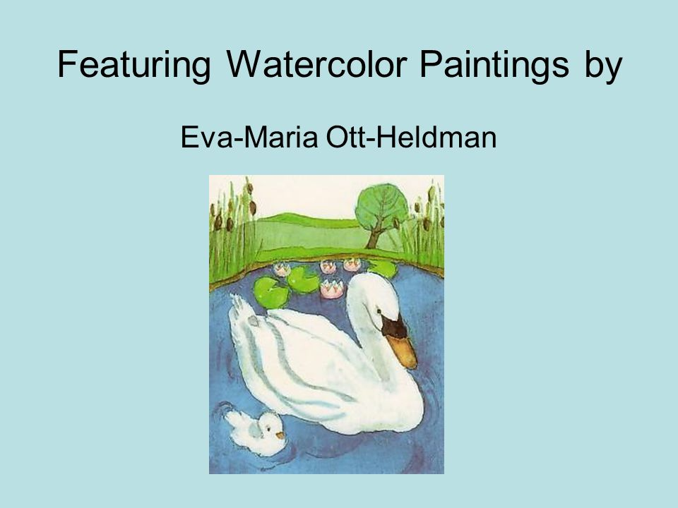Featuring Watercolor Paintings by