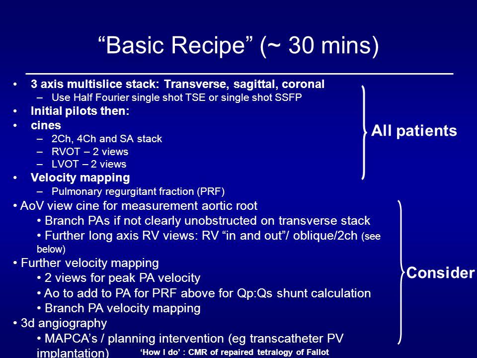Basic Recipe (~ 30 mins)