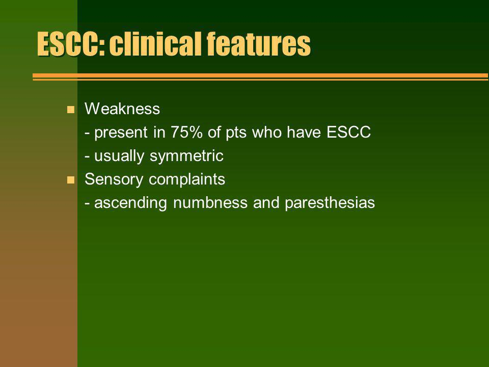 ESCC: clinical features