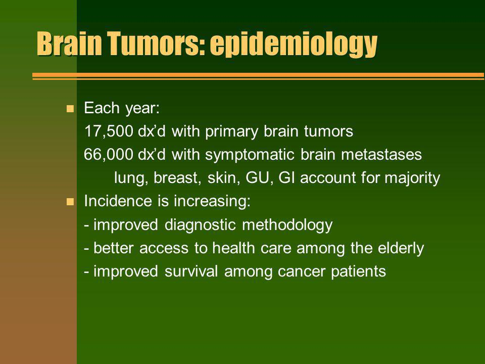 Brain Tumors: epidemiology