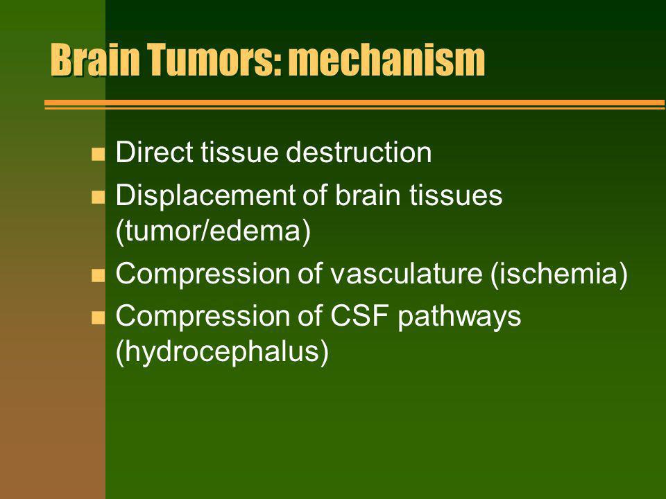 Brain Tumors: mechanism
