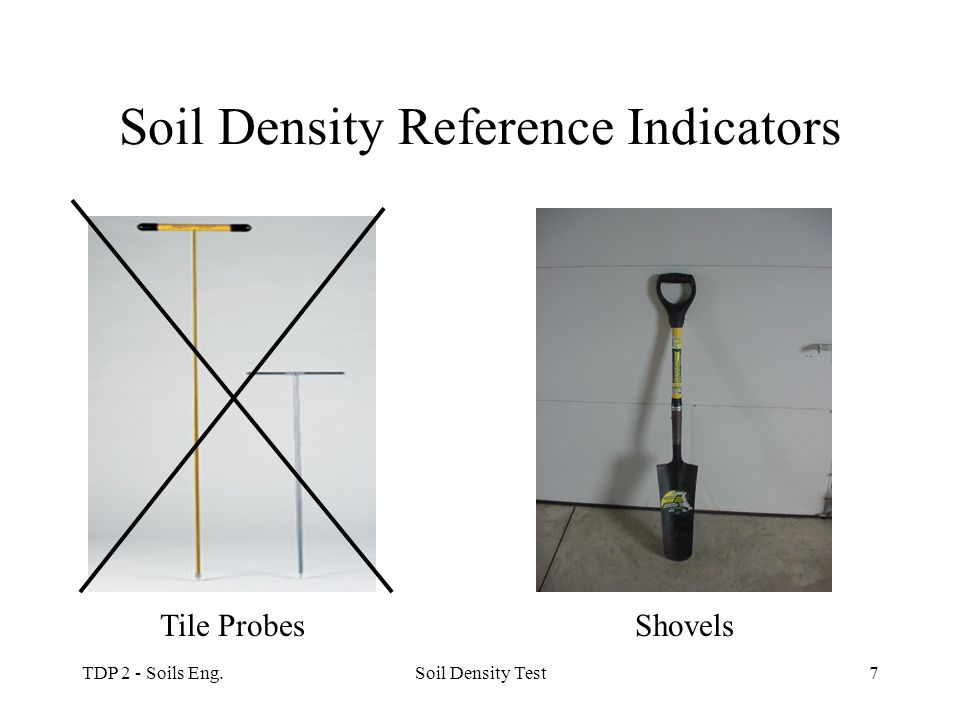 Soil Density Reference Indicators