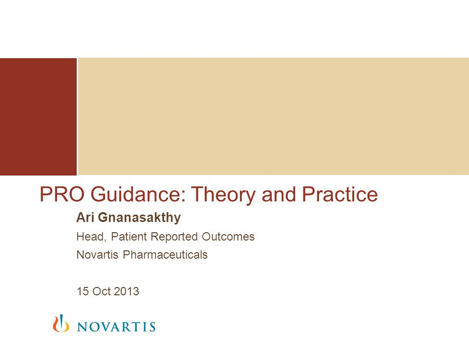 PRO Guidance: Theory and Practice