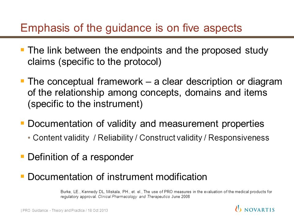 Emphasis of the guidance is on five aspects
