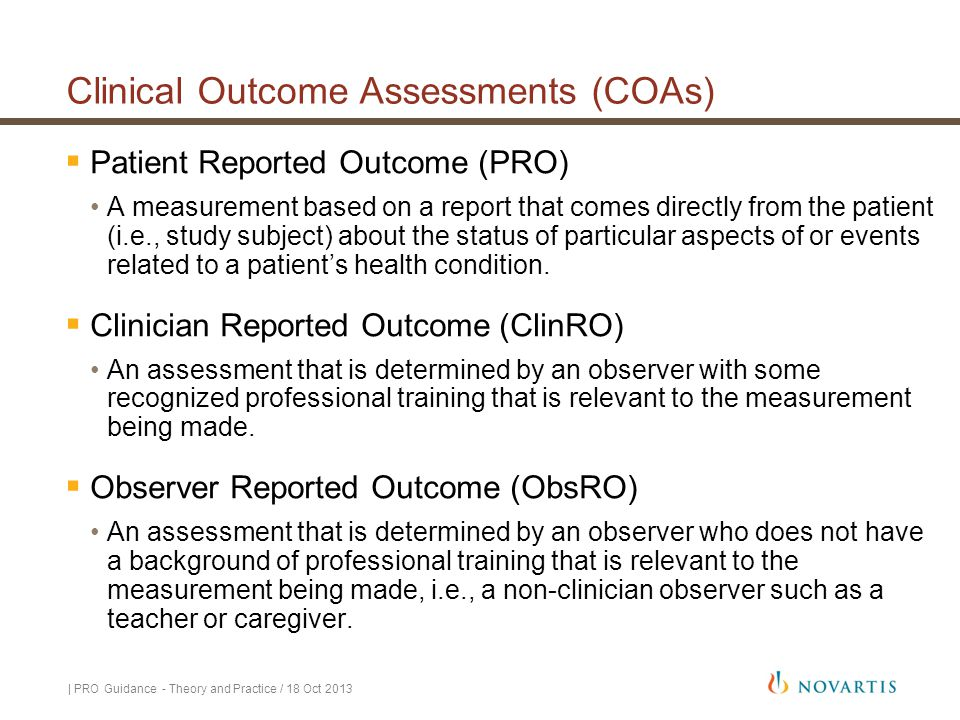Clinical Outcome Assessments (COAs)