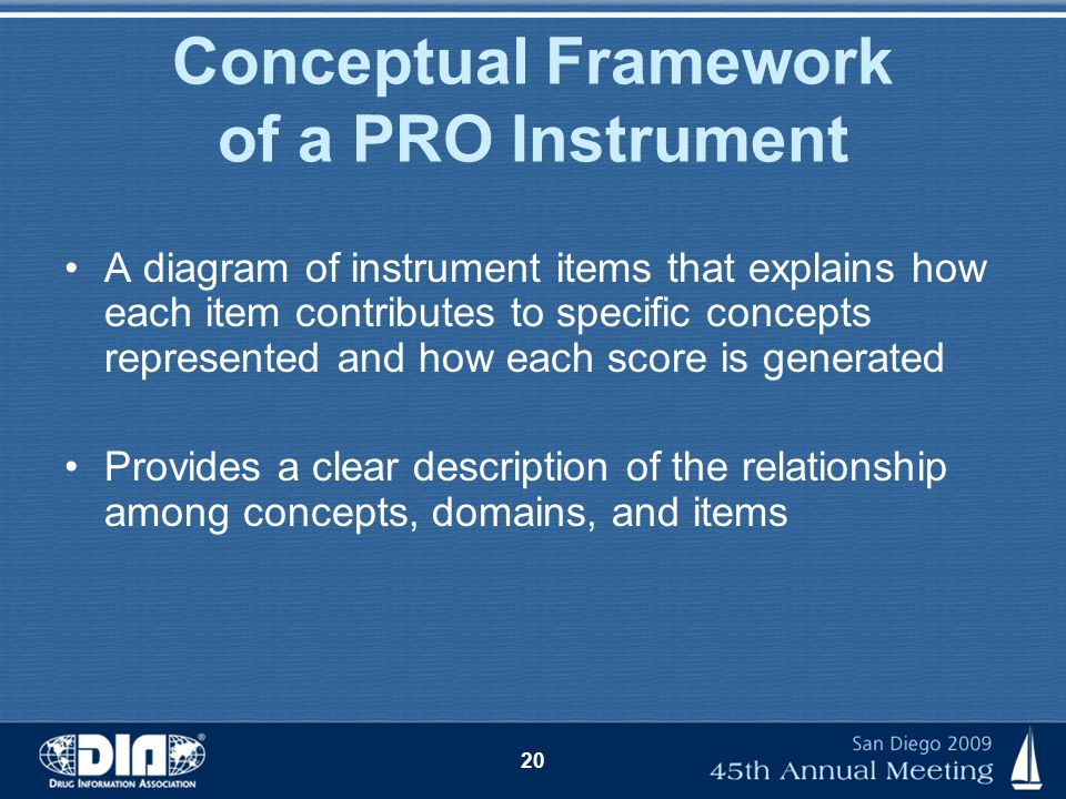 Conceptual Framework of a PRO Instrument