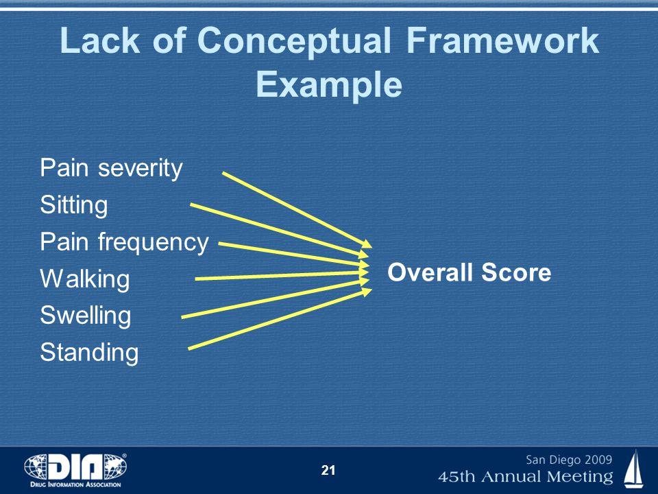 Lack of Conceptual Framework Example