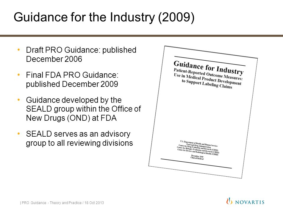 Guidance for the Industry (2009)