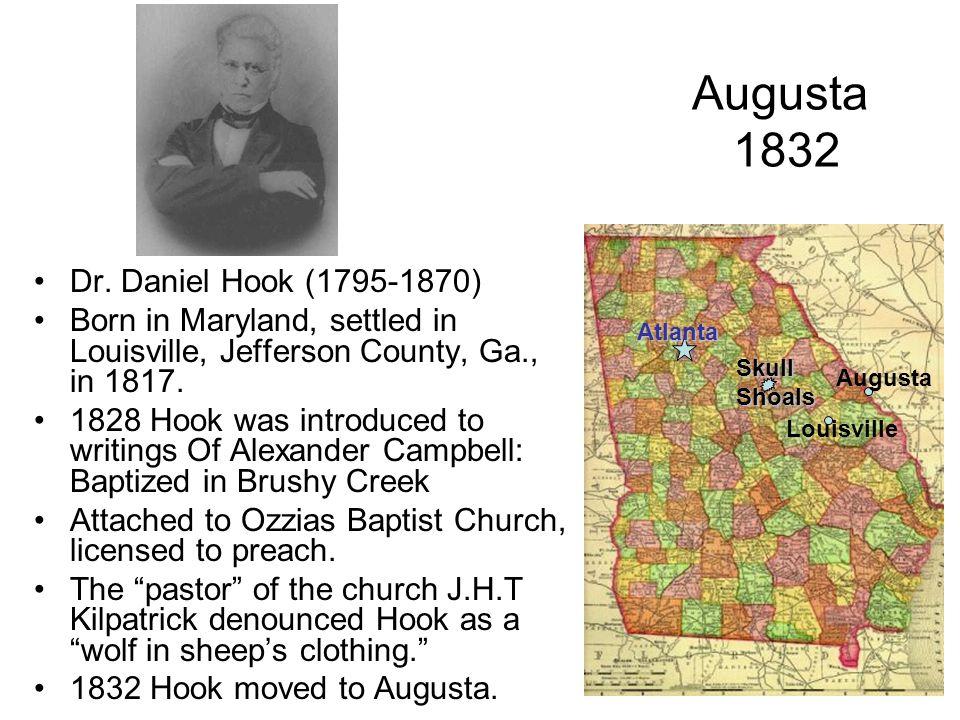 Augusta 1832 Dr. Daniel Hook (1795-1870)