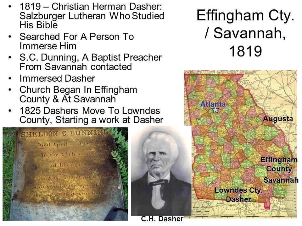 Effingham Cty. / Savannah, 1819