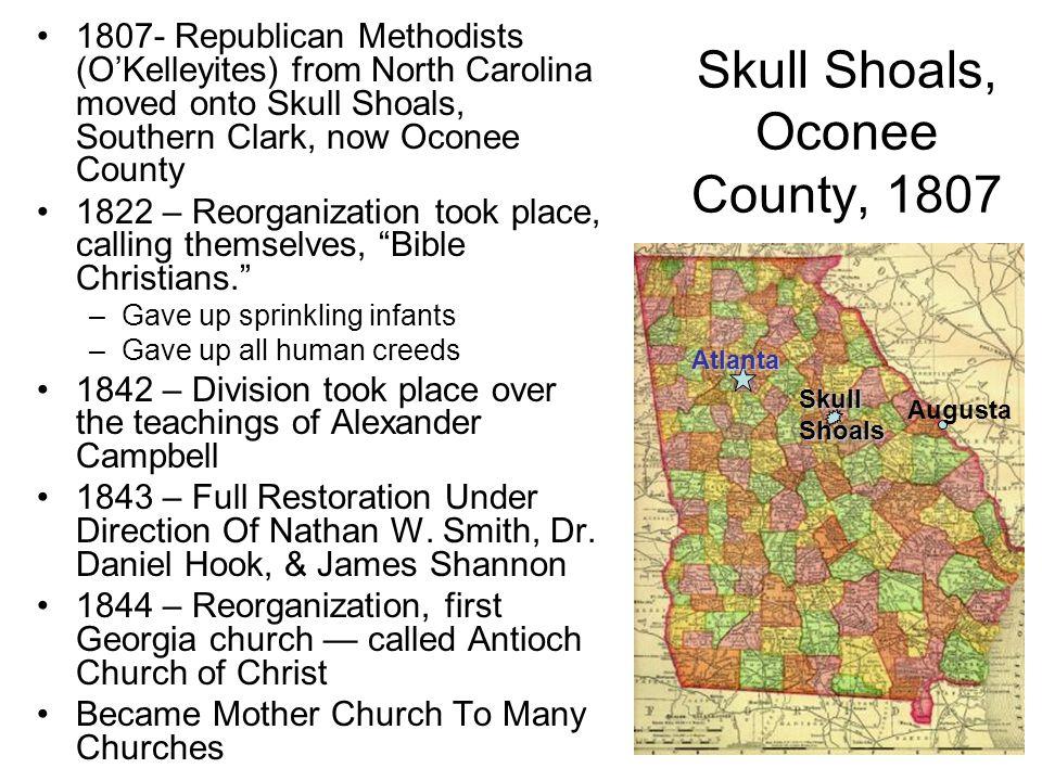 Skull Shoals, Oconee County, 1807