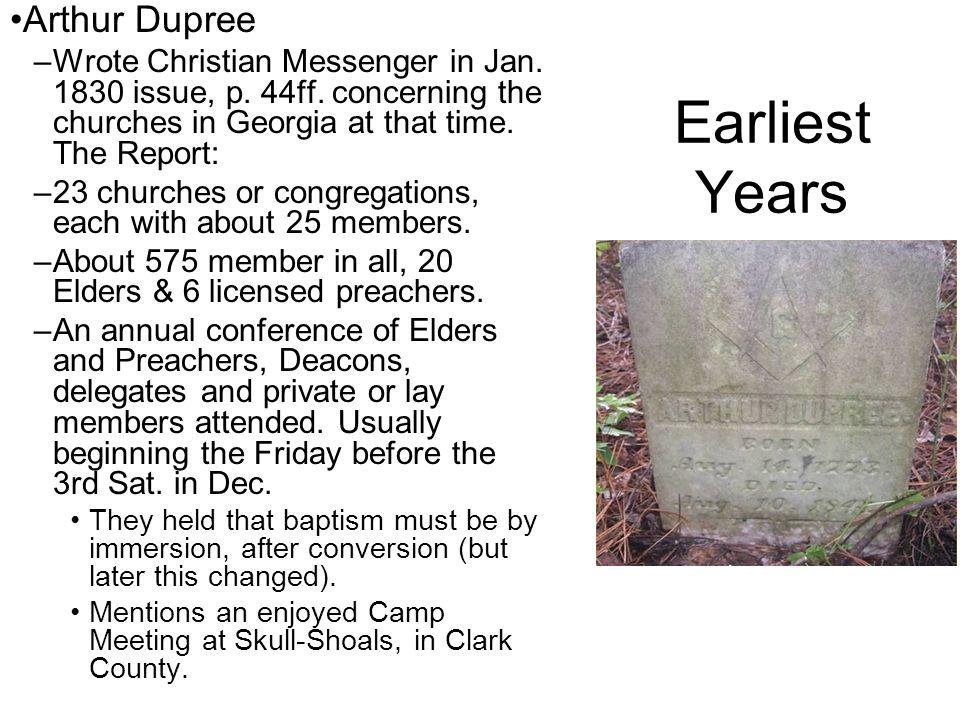 Earliest Years Arthur Dupree