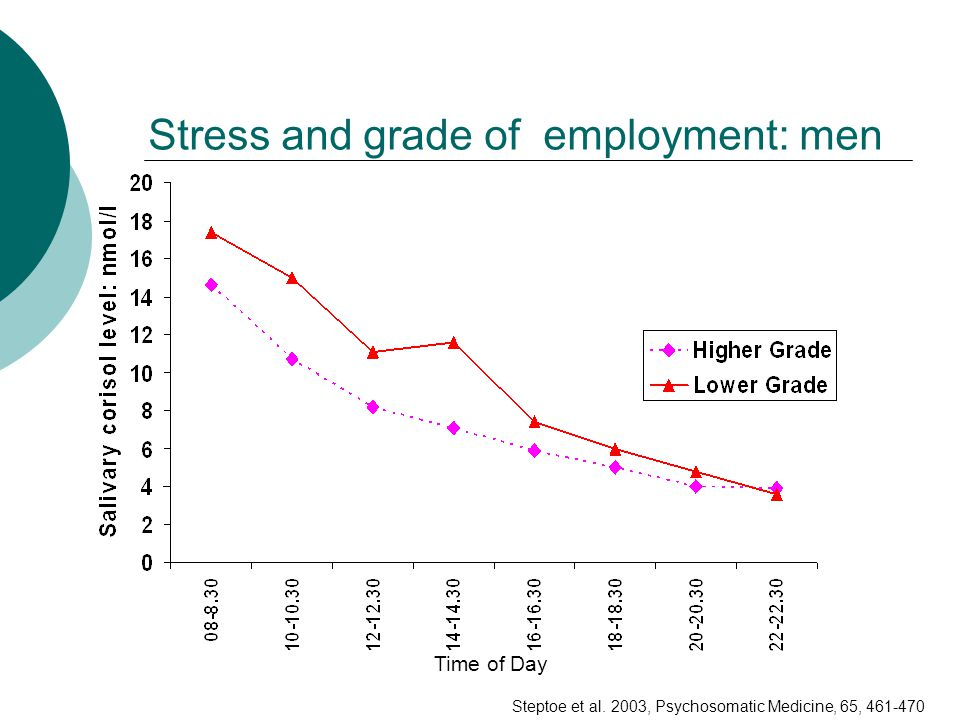 Stress and grade of employment: men