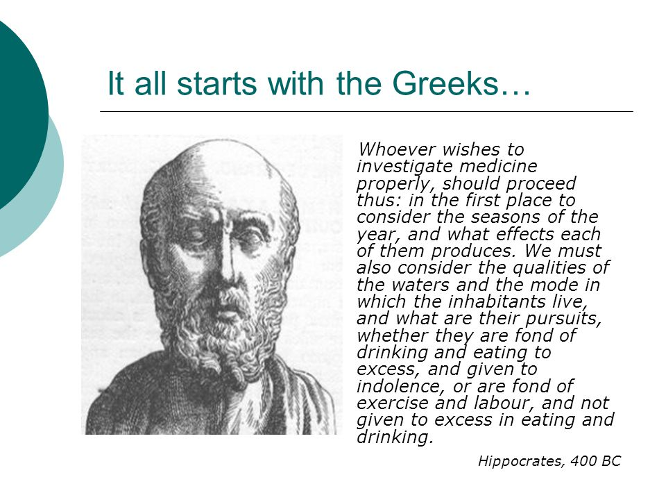 It all starts with the Greeks…