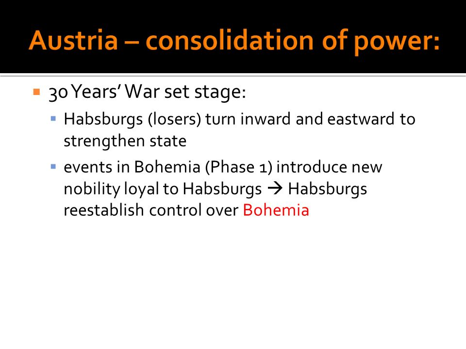 Austria – consolidation of power: