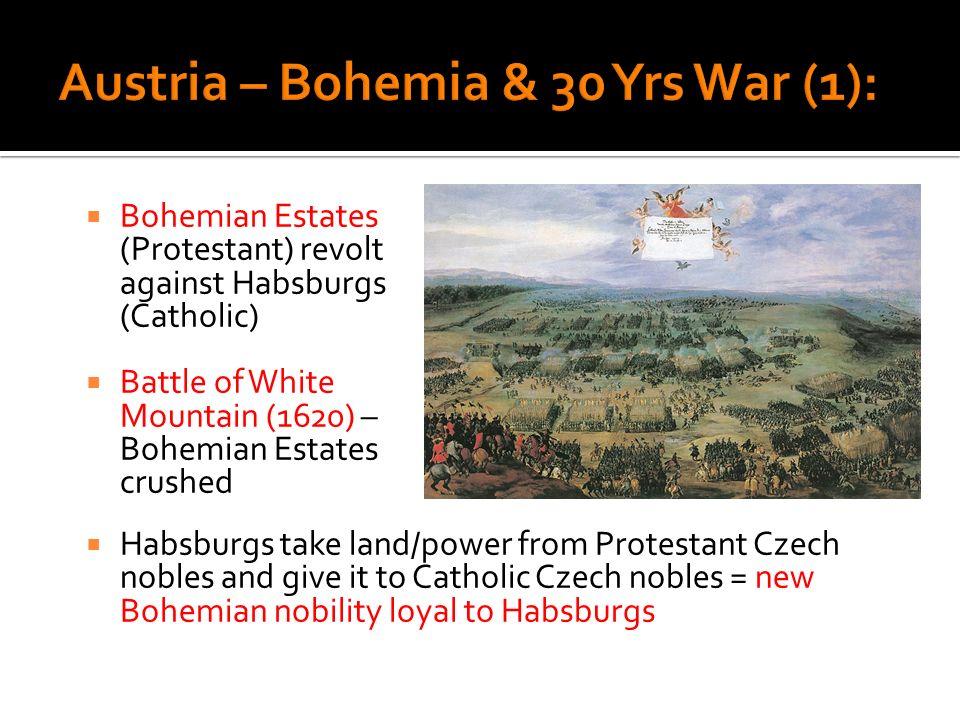 Austria – Bohemia & 30 Yrs War (1):