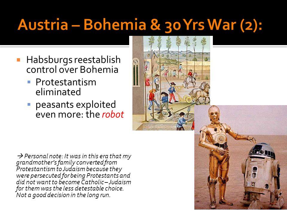 Austria – Bohemia & 30 Yrs War (2):