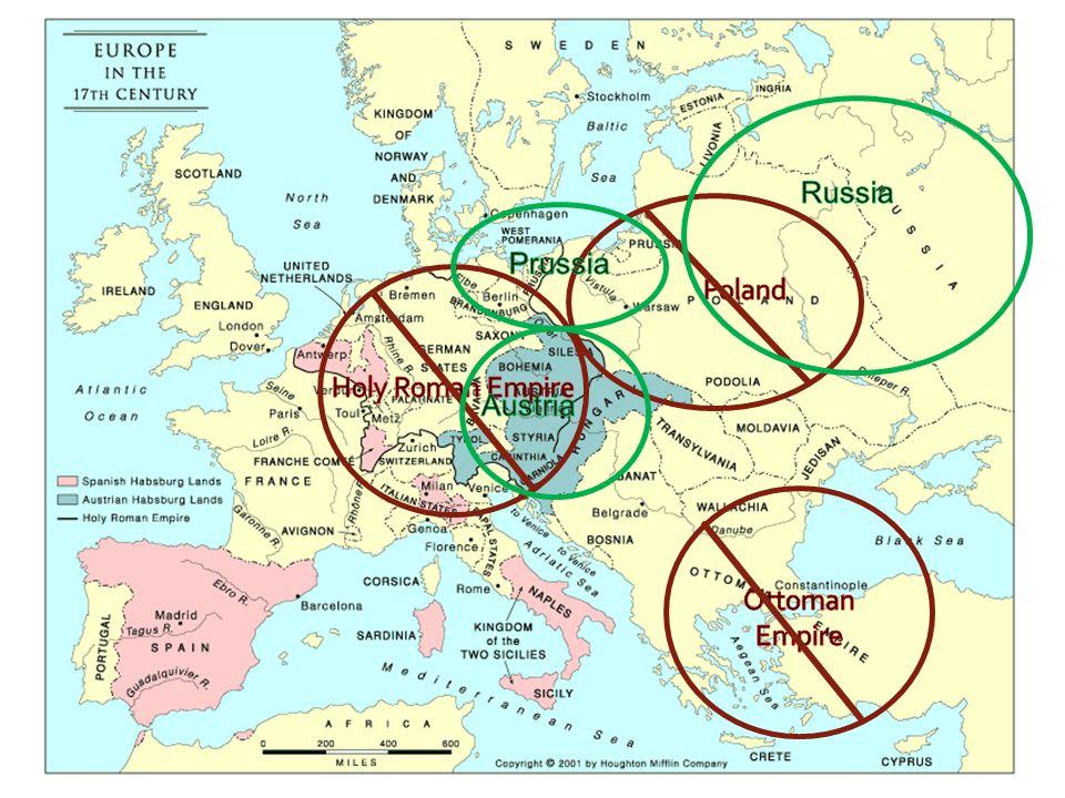 Russia Prussia Poland Holy Roman Empire Austria Ottoman Empire