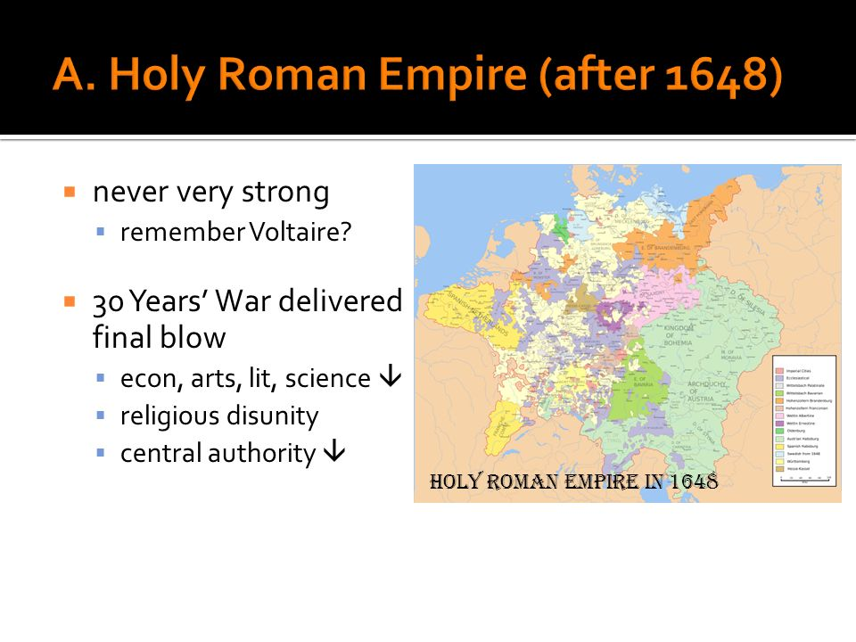 A. Holy Roman Empire (after 1648)