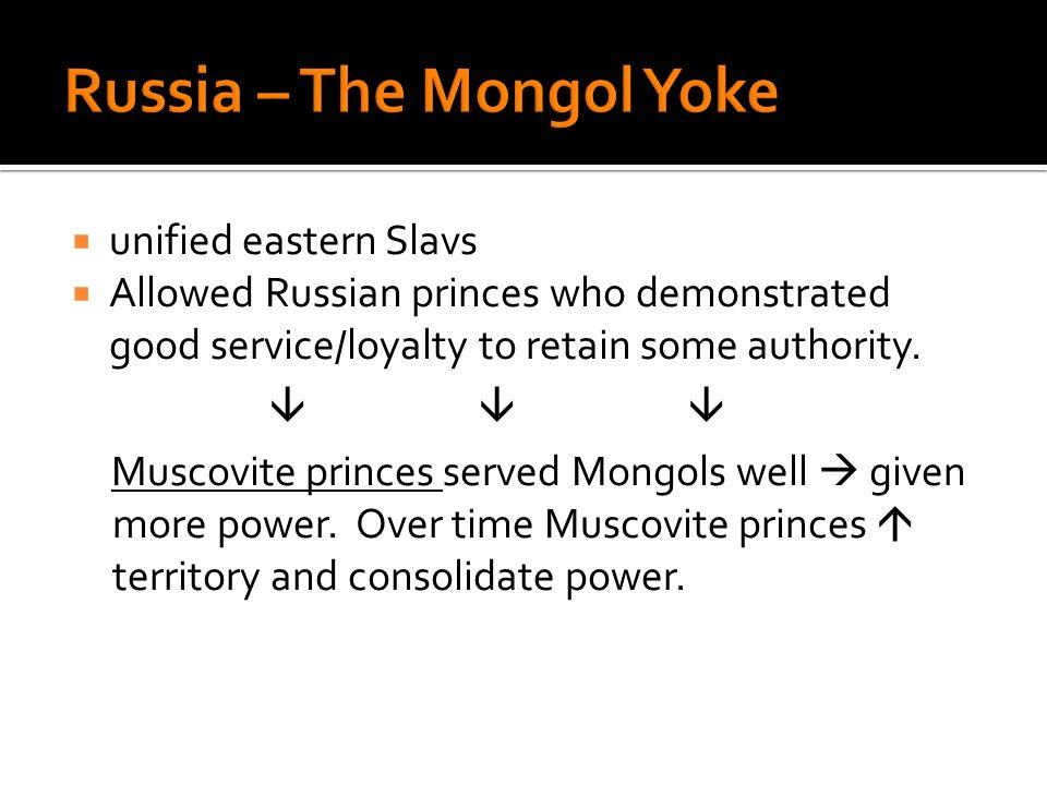 Russia – The Mongol Yoke