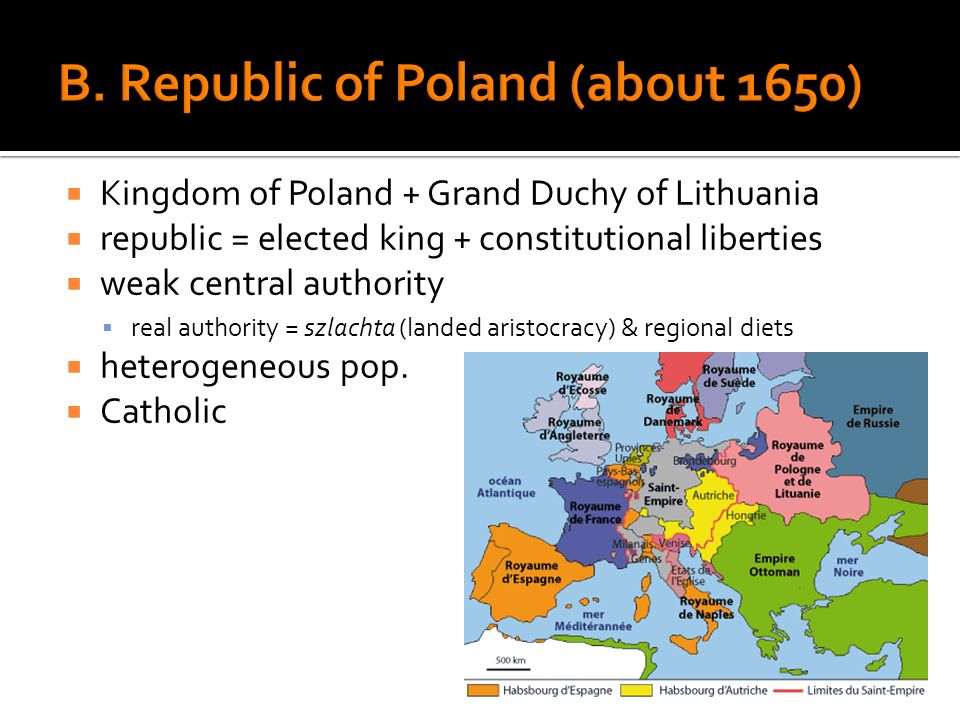 B. Republic of Poland (about 1650)