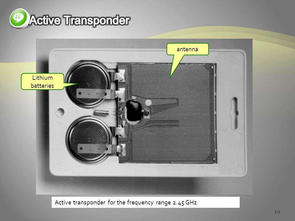 Active Transponder antenna Lithium batteries