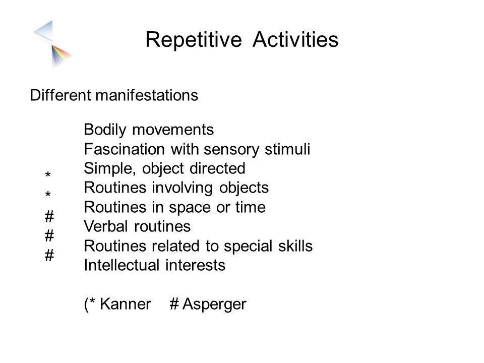 Repetitive Activities
