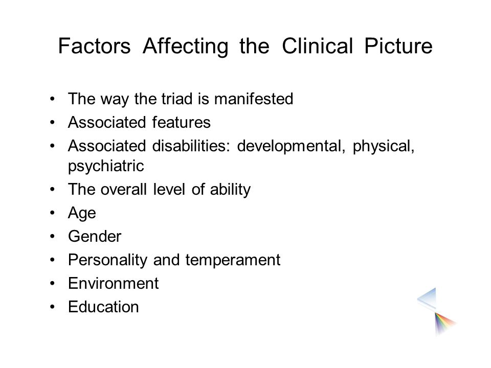 Factors Affecting the Clinical Picture