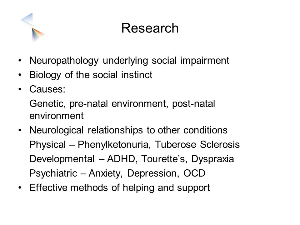 Research Neuropathology underlying social impairment