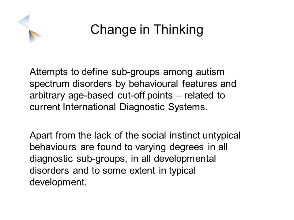 Change in Thinking
