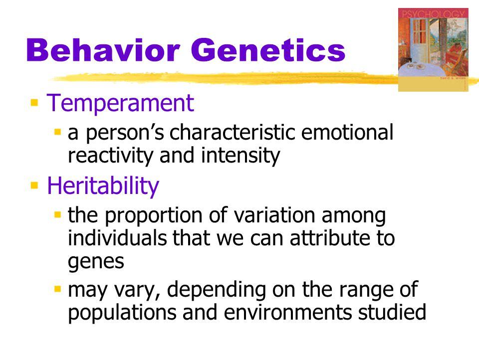 Behavior Genetics Temperament Heritability