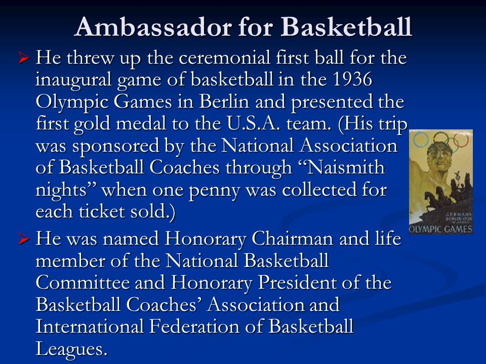 Ambassador for Basketball