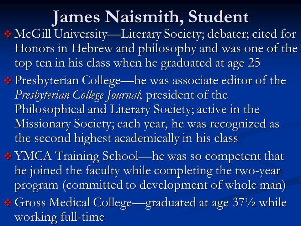 James Naismith, Student
