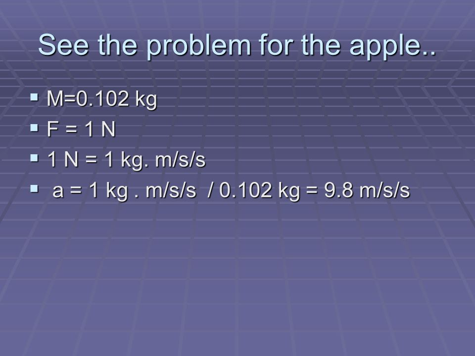 See the problem for the apple..