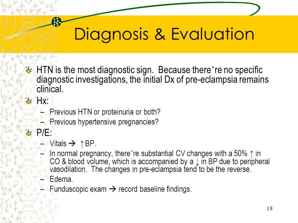 Diagnosis & Evaluation
