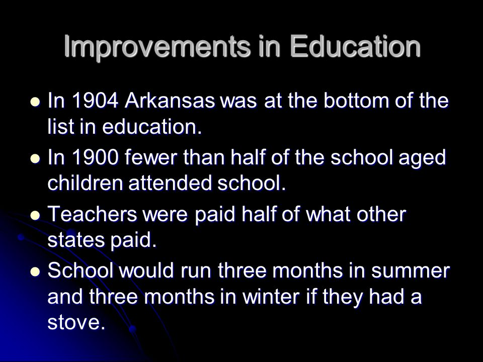 Improvements in Education