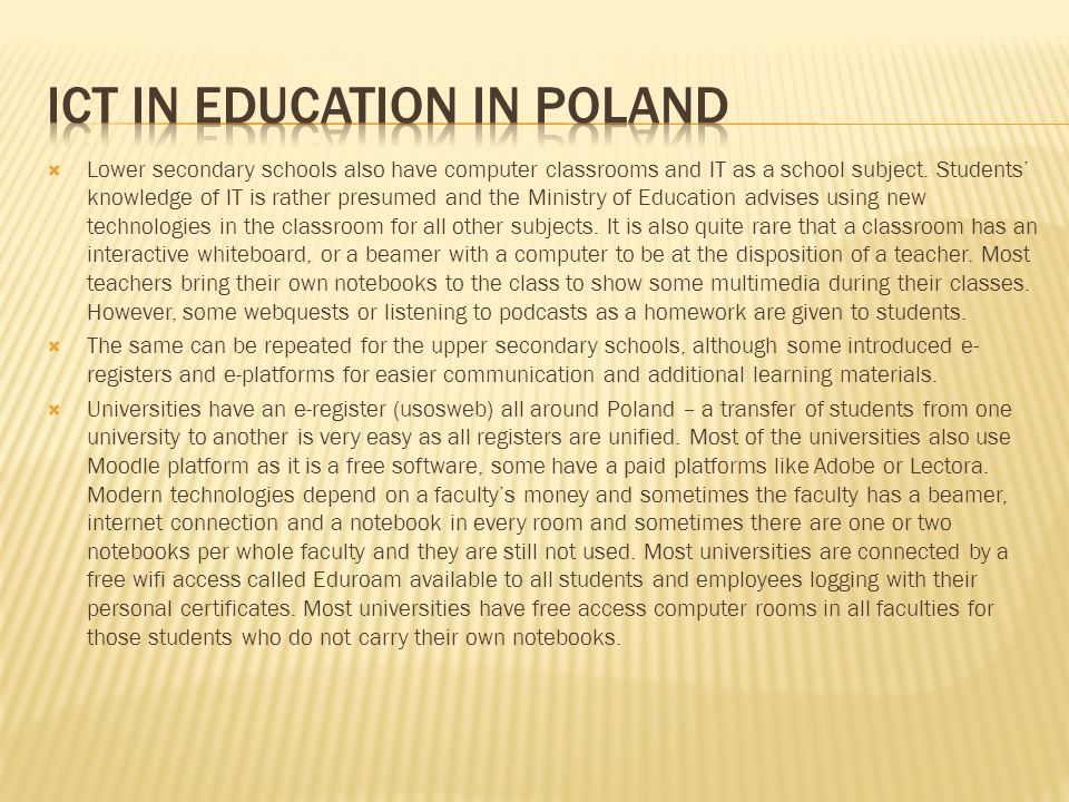 ICT in education in poland