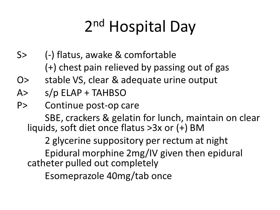 2nd Hospital Day
