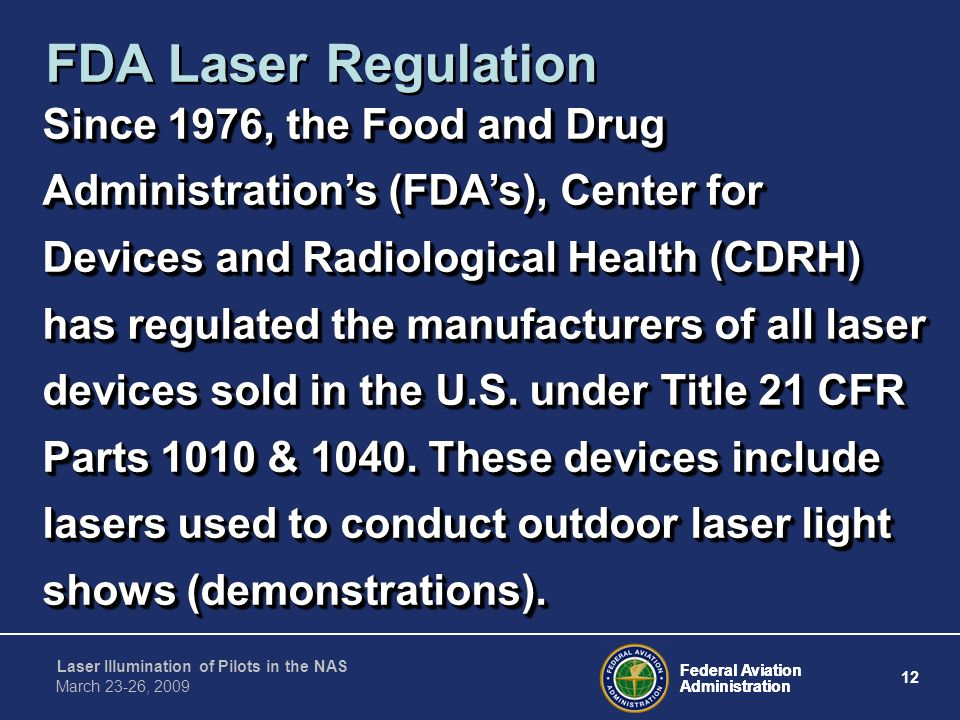 FDA Laser Regulation