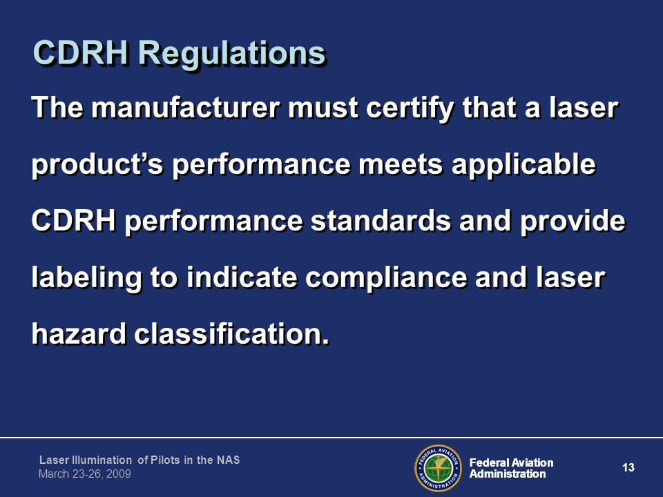 CDRH Regulations