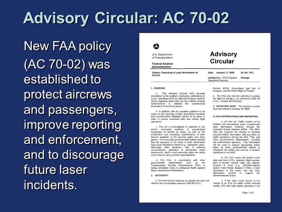 Advisory Circular: AC 70-02