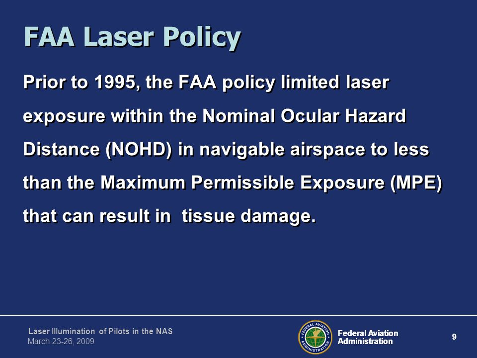 FAA Laser Policy
