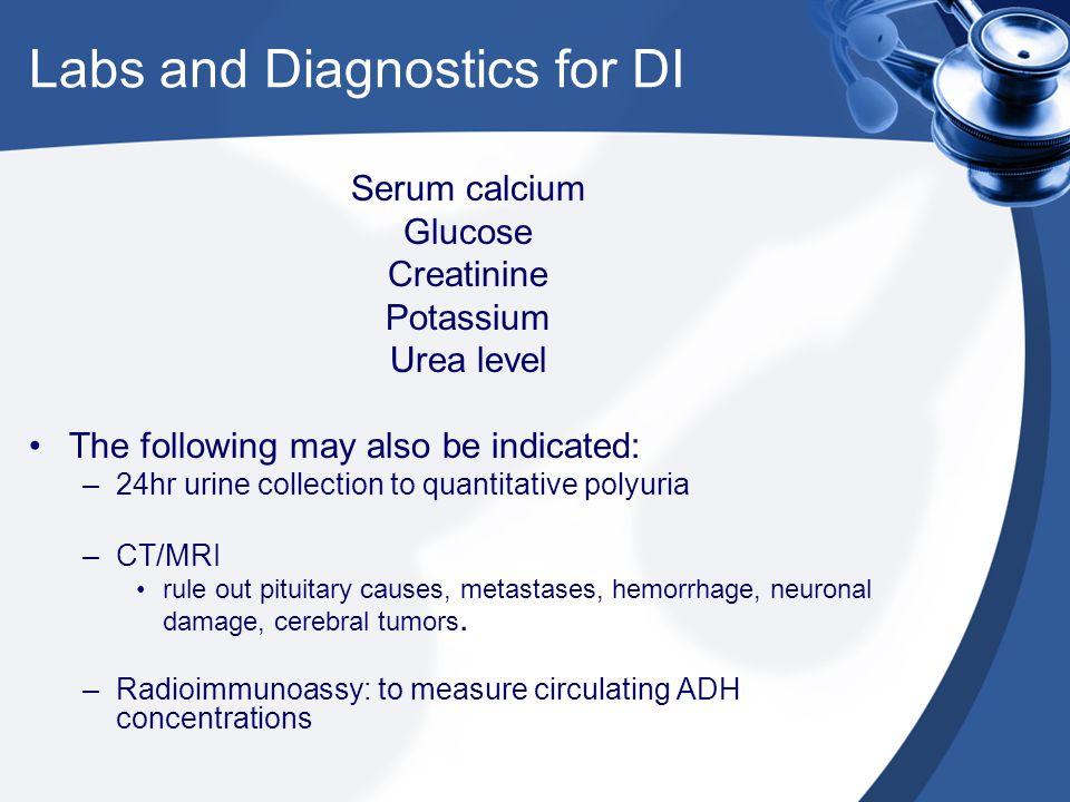 Labs and Diagnostics for DI