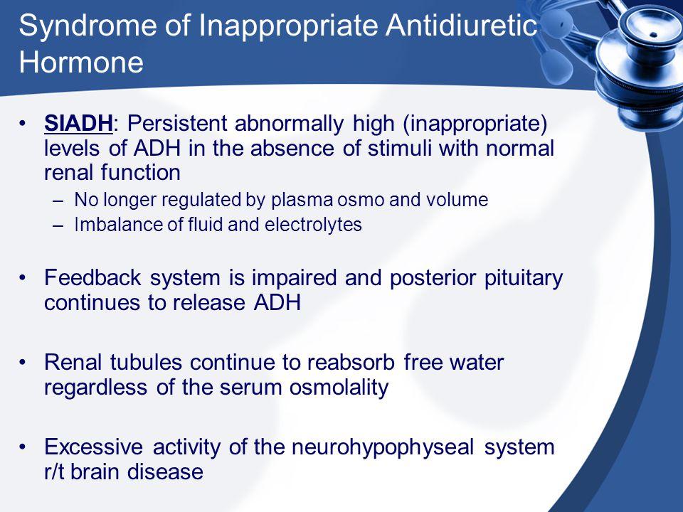 Syndrome of Inappropriate Antidiuretic Hormone