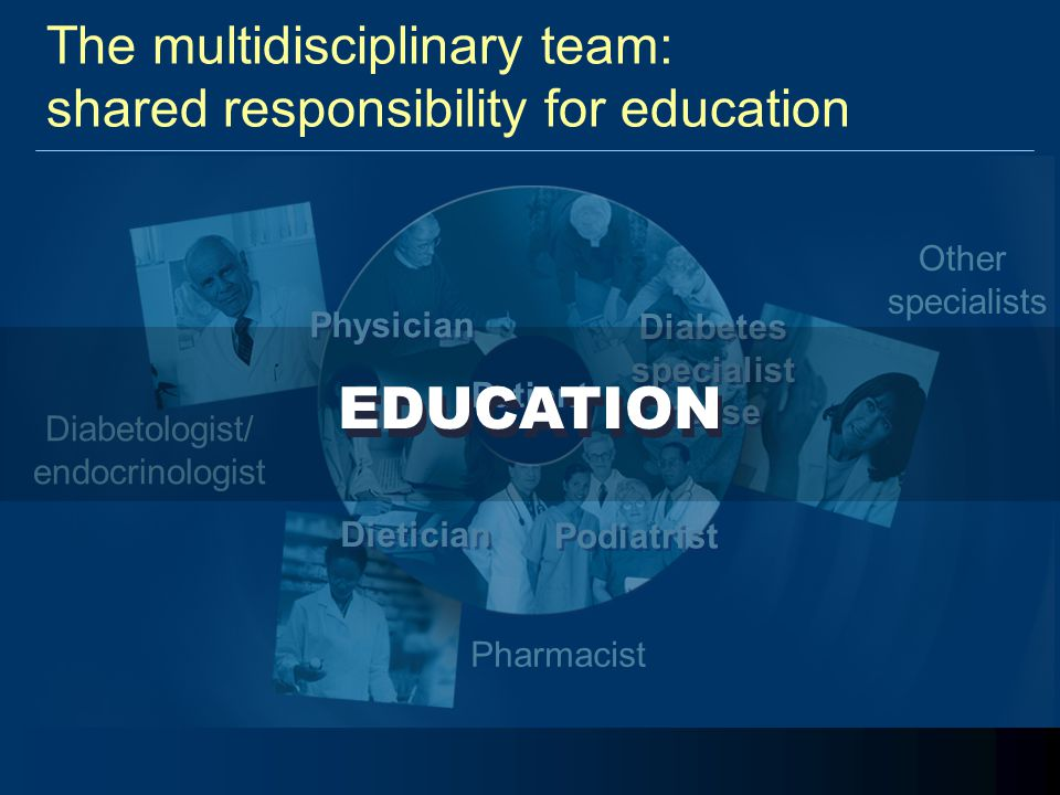 The multidisciplinary team: shared responsibility for education