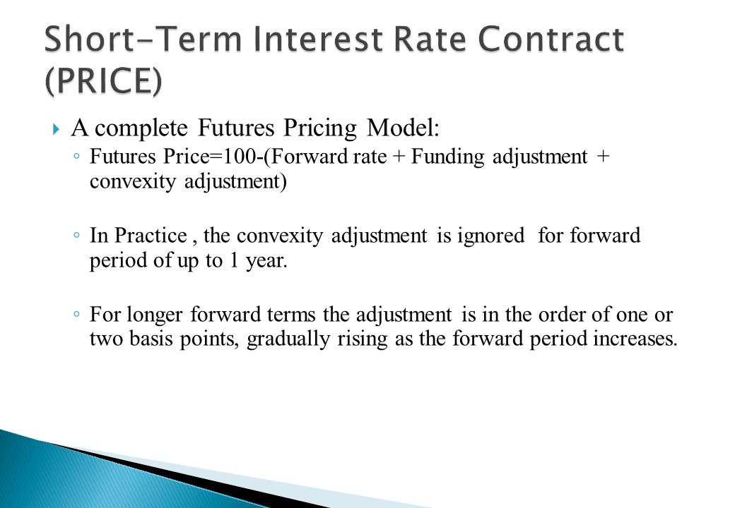 Short-Term Interest Rate Contract (PRICE)
