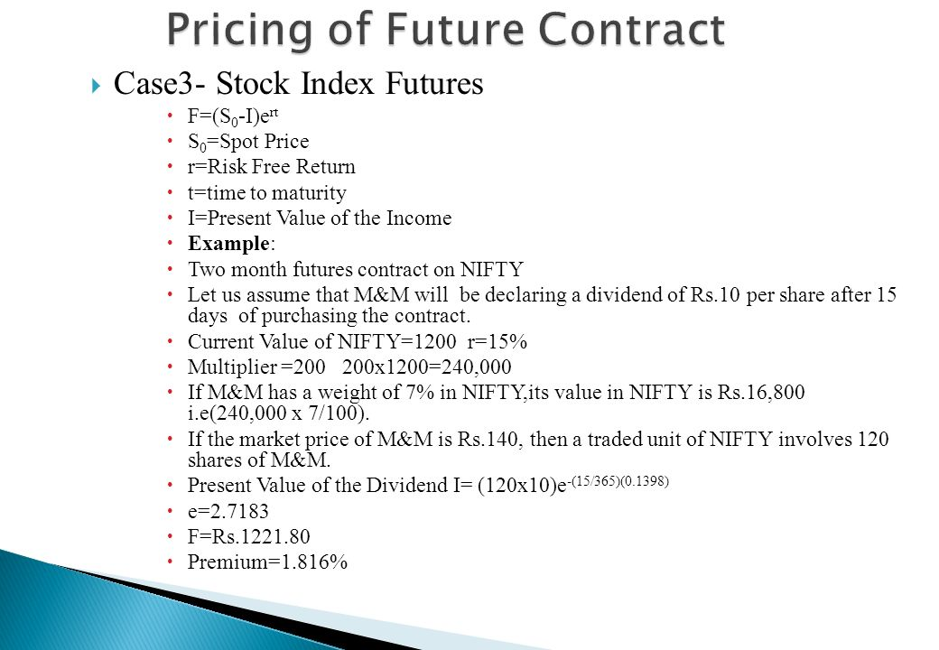 Pricing of Future Contract