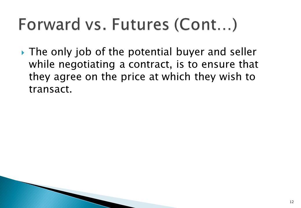 Forward vs. Futures (Cont…)