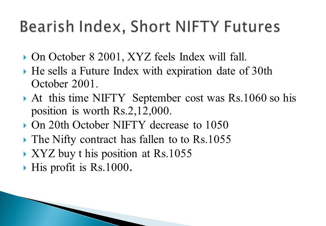 Bearish Index, Short NIFTY Futures